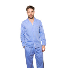Blue herringbone pj pants
