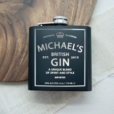 Personalised Gin Vintage Hip Flask