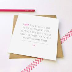 Date night greeting card