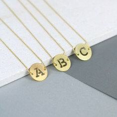 Letter Stamp Necklace