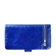 Esther leather wallet in royal blue