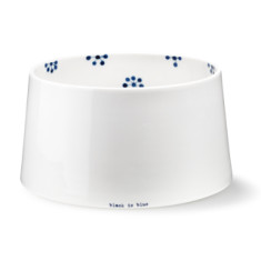 Black is blue XL concave bowl