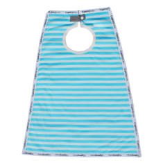 Cotton maxi bib in sky stripe (blue)