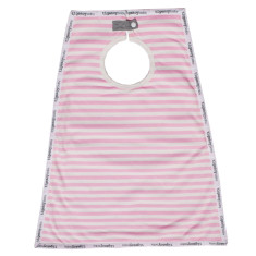 Cotton maxi bib in candy stripe (pink)