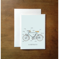 French bicycles greeting card