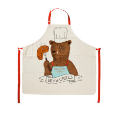 Big bear BBQ king cotton apron