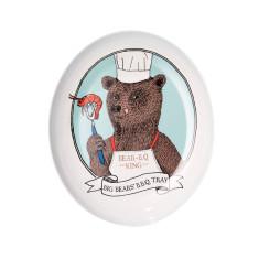 Big bear BBQ melamine platter