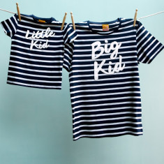Big kid/little kid t-shirt twinset for dad & child