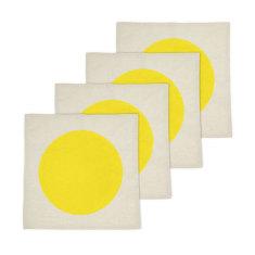 Big spot bright yellow napkin set