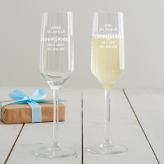 Personalised 'Will You Be My Groomsman?' Champagne Flute