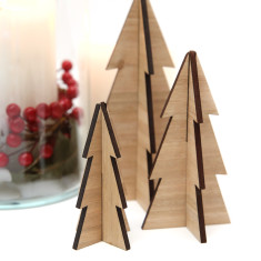 Wooden Christmas Tree Ornamants