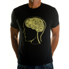 Bike brain men's t-shirt