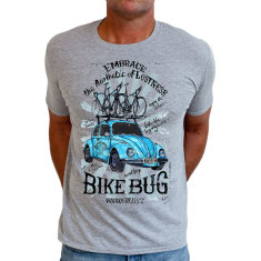 Bike bug men's t shirt in grey