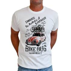 Bike bug men's t shirt in white