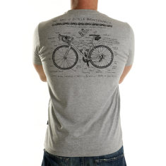 Art of bike maintenance t-shirt in grey