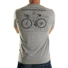 Art of bike maintenance t-shirt in grey