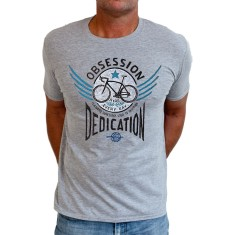 Bike obsession men's t-shirt in grey