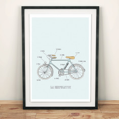 French bicycles print