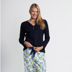 Falls Creek navy pyjama set