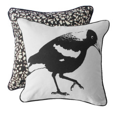 Backyard magpie cushion cover