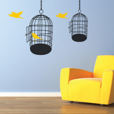 Bird cages wall sticker