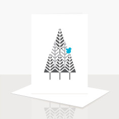 Bird in a Tree Greeting Card (Pack of 8)