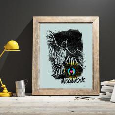 Limited edition woodstock bird art print