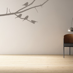 Birds on a tree branch wall sticker