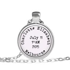 Personalised birth pendant