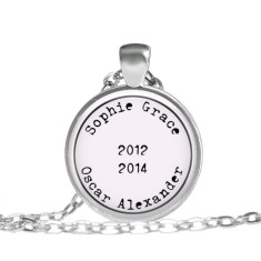 Personalised birth pendant (2 - 3 names)