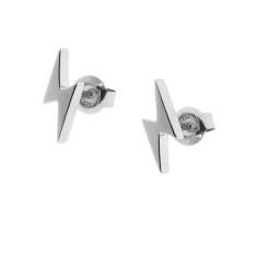 Sterling silver lightning bolt stud earrings
