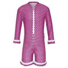 Pink flower UV suit