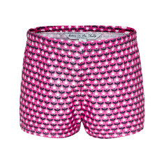 Pink flower swimmer trunks
