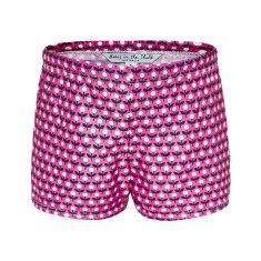 Pink flower swimmer trunks
