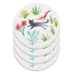 Secret Garden Ceramic Coasters (set of 4)