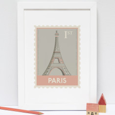 Paris Stamp print