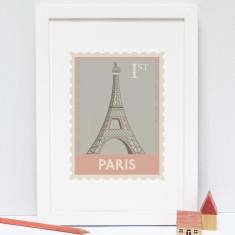 Paris Stamp print