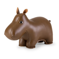 Zuny paperweight classic hippo brown