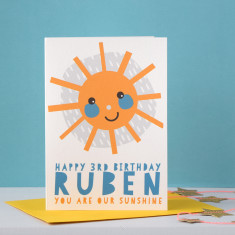 You Are My Sunshine Personalised Children's Birthday Card