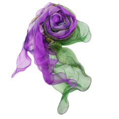 Purple rain light silk scarf