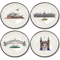 Sydney Harbour collection canapé plates (set of 4)