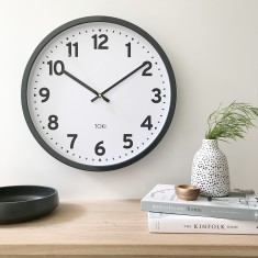 Kennett Silent Sweep Wall Clock 50cm (Charcoal) by Toki