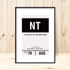Northern Territory luggage tag print