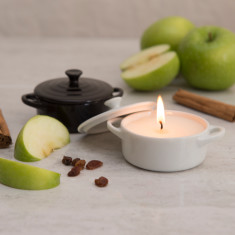 Apple Pie Scented Candle In A Casserole Dish