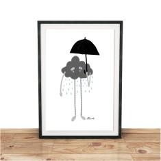 It's Raining Giclee print