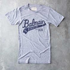 Grey Balmain script vintage t-shirt