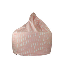 Pink Raindrops Bean Bag Cover