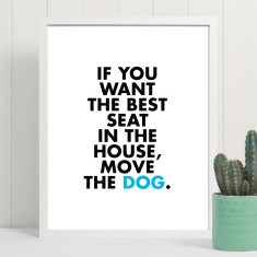 Move the dog art print (more colours)