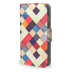 Colourful Checkered iPhone 7 Wallet Phone Case