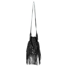 White river geunine leather tassel bag
